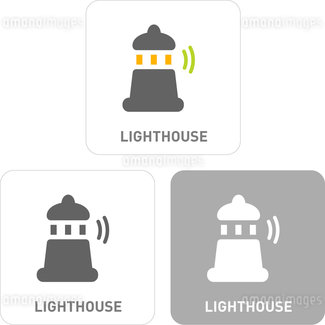Lighthouse Pictogram Iconsのイラスト素材 [FYI03101819]