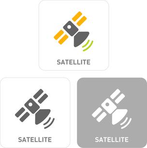 Artificial satellite Pictogram Iconsのイラスト素材 [FYI03101822]