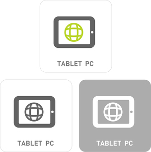 Tablet PC Pictogram Iconsのイラスト素材 [FYI03101824]