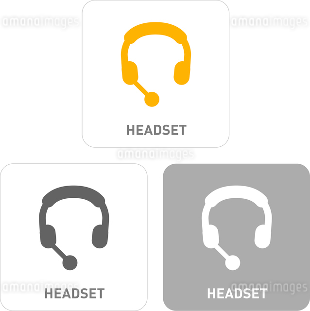 Headsets Pictogram Iconsのイラスト素材 [FYI03101828]