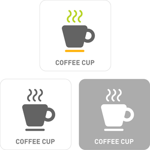 COffee cup Pictogram Iconsのイラスト素材 [FYI03101831]
