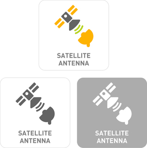 Satellite Antenna Pictogram Iconsのイラスト素材 [FYI03101833]