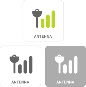 Antenna Pictogram Iconsのイラスト素材 [FYI03101834]