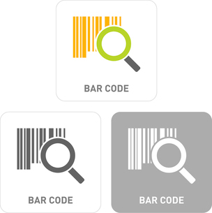 Barcode Pictogram Iconsのイラスト素材 [FYI03101836]