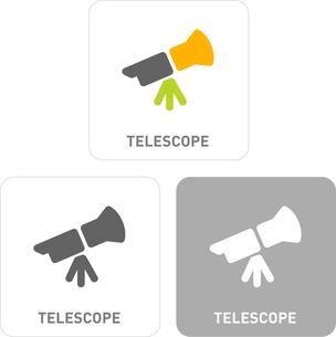Telescope Pictogram Iconsのイラスト素材 [FYI03101839]