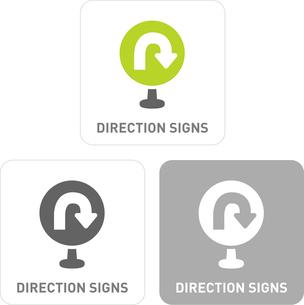 U-turn signs Pictogram Iconsのイラスト素材 [FYI03101840]