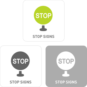 Stop sign Pictogram Iconsのイラスト素材 [FYI03101841]