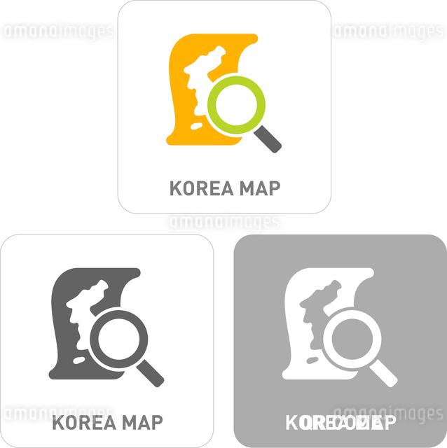 South Korea map Pictogram Iconsのイラスト素材 [FYI03101846]