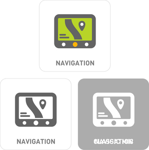 Navigation Pictogram Iconsのイラスト素材 [FYI03101848]