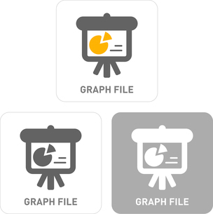 Graph Pictogram Iconsのイラスト素材 [FYI03101851]
