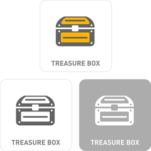 Treasure Box Pictogram Iconsのイラスト素材 [FYI03101856]