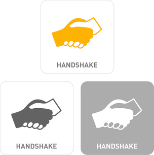 Handshake Pictogram Iconsのイラスト素材 [FYI03101860]