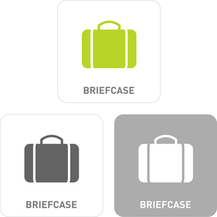 Briefcase Pictogram Iconsのイラスト素材 [FYI03101872]