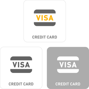 Credit Card Pictogram Iconsのイラスト素材 [FYI03101876]