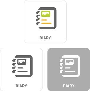 Diary Pictogram Iconsのイラスト素材 [FYI03101877]