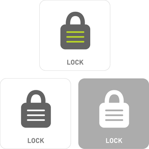 Lock Pictogram Iconsのイラスト素材 [FYI03101879]