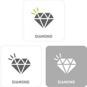 Diamond Pictogram Iconsのイラスト素材 [FYI03101882]