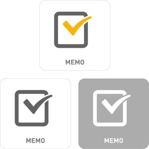 Memo Pictogram Iconsのイラスト素材 [FYI03101884]