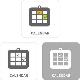 Calendar Pictogram Iconsのイラスト素材 [FYI03101887]