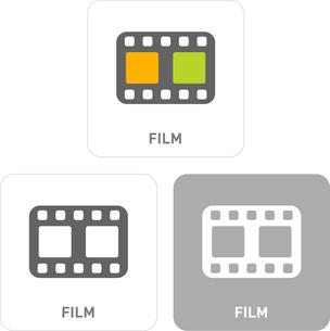 Film Pictogram Iconsのイラスト素材 [FYI03101888]