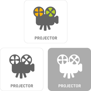 Projector Pictogram Iconsのイラスト素材 [FYI03101889]
