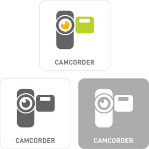Camcorder Pictogram Iconsのイラスト素材 [FYI03101892]