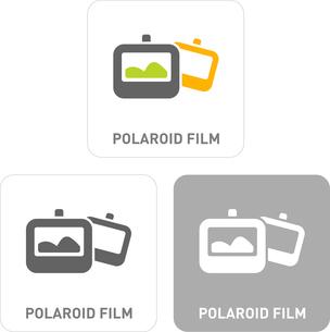 Polaroid film Pictogram Iconsのイラスト素材 [FYI03101894]