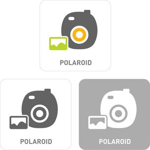 Polaroid Pictogram Iconsのイラスト素材 [FYI03101895]