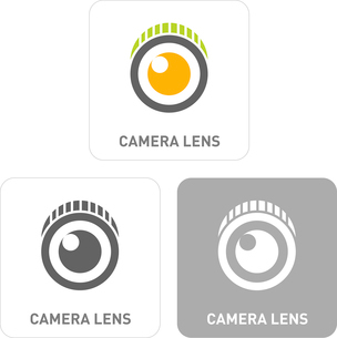 Camera Lenses Pictogram Iconsのイラスト素材 [FYI03101897]