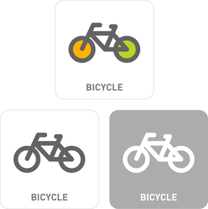 Bicycle Pictogram Iconsのイラスト素材 [FYI03101898]