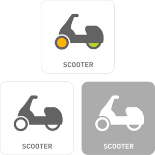 Scooter Pictogram Iconsのイラスト素材 [FYI03101899]