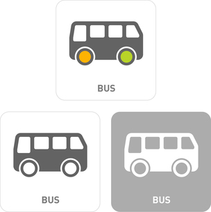 Bus Pictogram Iconsのイラスト素材 [FYI03101901]