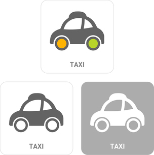 Taxi Pictogram Iconsのイラスト素材 [FYI03101902]