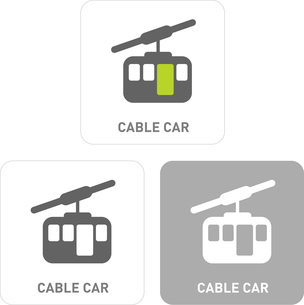 Cable Car Pictogram Iconsのイラスト素材 [FYI03101904]