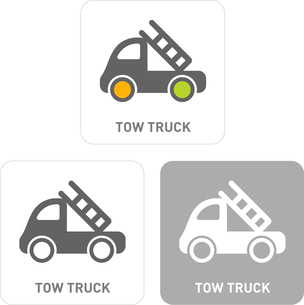 Truck Pictogram Iconsのイラスト素材 [FYI03101905]
