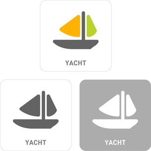 Yacht Pictogram Iconsのイラスト素材 [FYI03101906]
