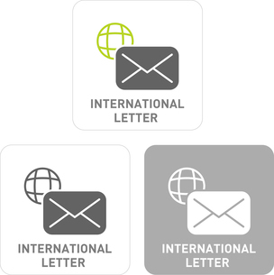 International Mail Pictogram Iconsのイラスト素材 [FYI03101909]