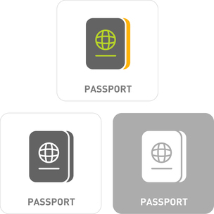 Passport Pictogram Iconsのイラスト素材 [FYI03101910]