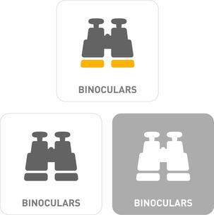 Telescope Pictogram Iconsのイラスト素材 [FYI03101916]