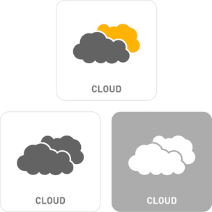 Clouds Pictogram Iconsのイラスト素材 [FYI03101918]