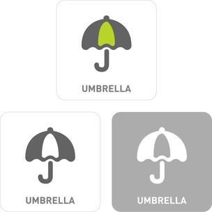 Umbrella Pictogram Iconsのイラスト素材 [FYI03101920]
