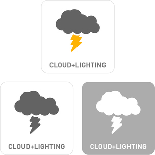 Thunder and lightning Pictogram Iconsのイラスト素材 [FYI03101921]