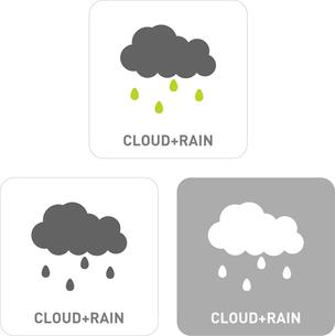 Rain cloud Pictogram Iconsのイラスト素材 [FYI03101922]