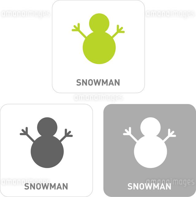 Snowman Pictogram Iconsのイラスト素材 [FYI03101923]