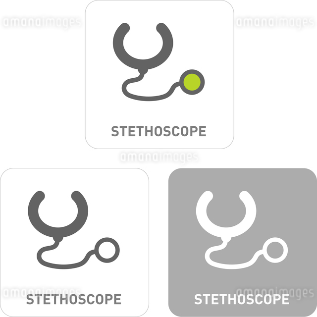 Stethoscope Pictogram Iconsのイラスト素材 [FYI03101927]