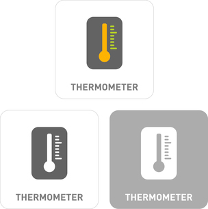 Thermometer Pictogram Iconsのイラスト素材 [FYI03101929]