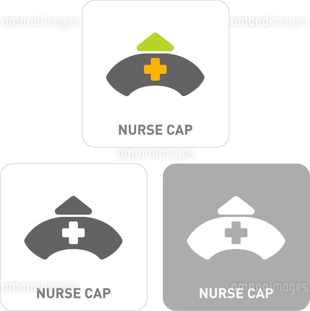 Nurse hat Pictogram Iconsのイラスト素材 [FYI03101932]