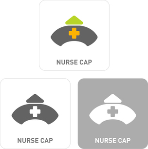 Nurse hat Pictogram Iconsのイラスト素材 [FYI03101932]