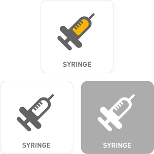 Syringe Pictogram Iconsのイラスト素材 [FYI03101933]