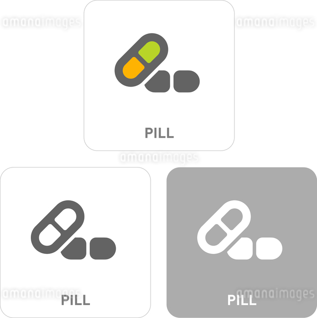 Pill Pictogram Iconsのイラスト素材 [FYI03101934]